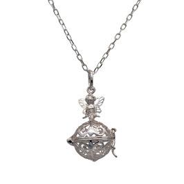D1047 Silber Kugel Medaillon Fee