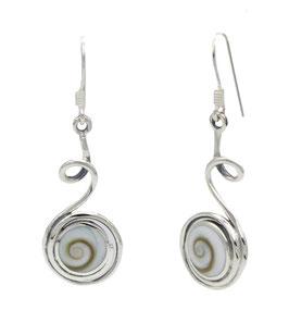 AP1080 Silber Ohrhänger Shiva Auge