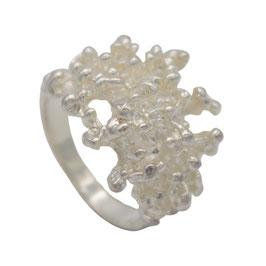 R906 Silberring Koralle