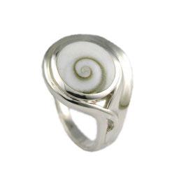 R1080 Silberring mit Shiva Auge