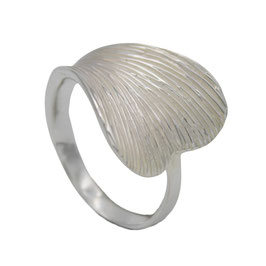 R920 Silberring Ginkgo Blatt