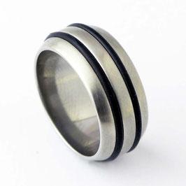 RH10-37 Edelstahl Ring mit Kautschuk