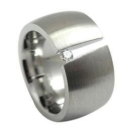 RH405 Edelstahl Ring mit Zirkonia