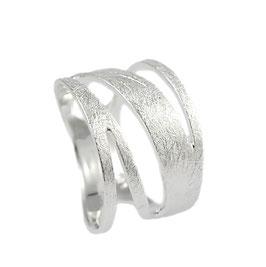 R995 Silberring eismatt