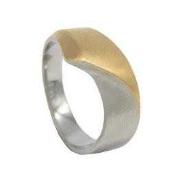 RH443-G Edelstahl Ring Bicolor Gold