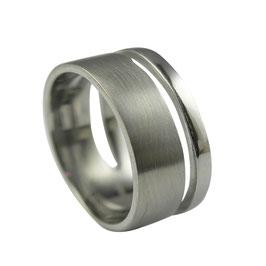 RH419 Edelstahl Ring matt/poliert