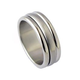 RH8-57 Edelstahl Ring