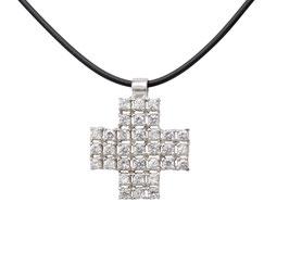 D360w Silber Anhänger Kreuz mit Kette