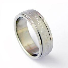 RH7-02 Edelstahl Ring Drache/Phönix