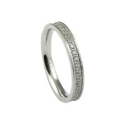 RH385 Edelstahl Ring mit Zirkonia