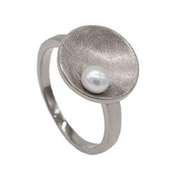 RH451 Edelstahl Ring mit Süßwasserperle