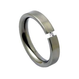 R4-08 Edelstahl Ring mit Zirkonia