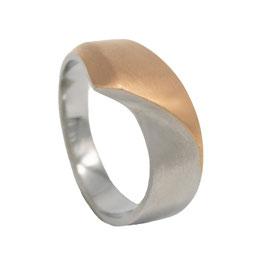 RH443-R Edelstahl Ring Bicolor Rosé
