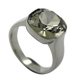 RH415 Edelstahl Ring mit Kristall Stein