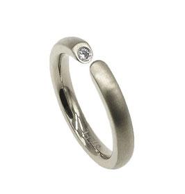 RH453 Edelstahl Ring mit Zirkonia