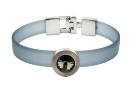 SB1122-01 PVC-Armband mit auswechselbarem Kristall