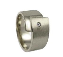RH435 Edelstahl Ring mit Zirkonia