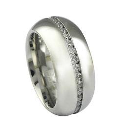 RH390 Edelstahl Ring mit Zirkonia