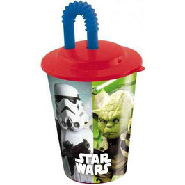 6X VERRE + PAILLE STAR WARS 400 ML à € 2.20