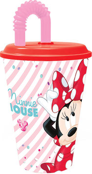 6X VERRE + PAILLE MINNIE 430ML € 2.00