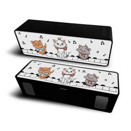 2X Haut-parleur stéréo portable sans fil 10W 2.1 Marie 001 Disney White à € 18.97