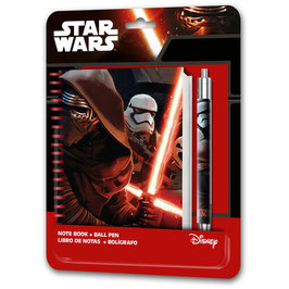 6X SET CAHIER + STYLO STAR WARS à € 2.90