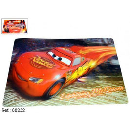 6X SET DE TABLE CARS 3D 42X28CM € 1.10