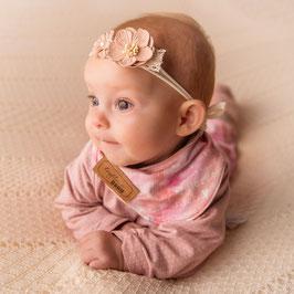 Baby Stirnband rosa Blumen -Variante 1-