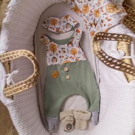 """❤ Highline Baby Komplettset grün """"süße Waldtiere"""""""