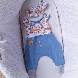 """❤ Highline Baby Set blau  """"Strampler Waldfreunde"""""""