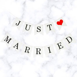 Wimpel Just ❤ Married