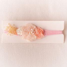 Baby Stirnband Blume lachs/rosa -Variante 9-