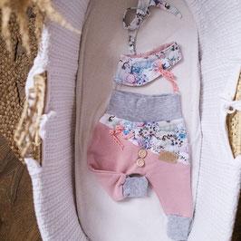 """❤ Highline Baby Set rosa """"Blumiger Kürbis"""""""