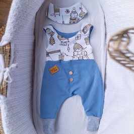 "❤ Highline Baby Set blau ""Winterzeit"""
