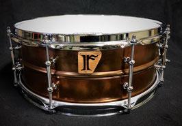 "#17. Bronze Plated Brass / 14""x5.5"" Snare Drum"