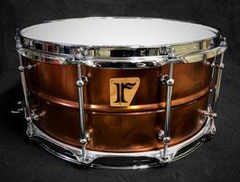 "#18. Bronze Plated Brass / 14""x6.5"" Snare Drum"