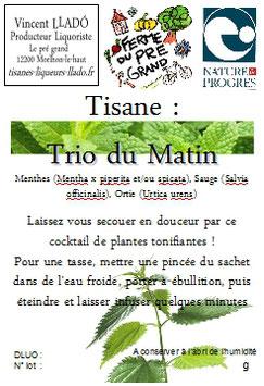 Tisane : Trio du matin