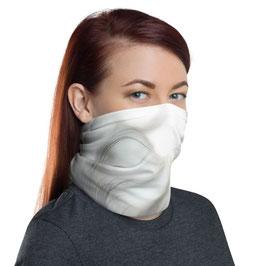Multifunktionstuch - Gesichtsmaske FLOWER WINGS grey