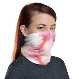 Multifunktionstuch - Gesichtsmaske FLOWER WINGS pink