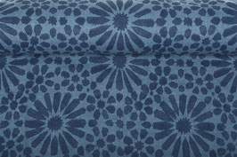 Linen washed - Flowers Geometric