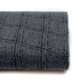 Double Gauze - Soft Checks Dark Blue (Kokka)