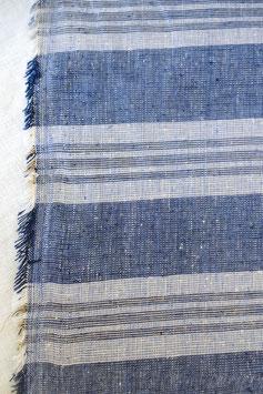 Hemp Woven - Indigo Fat Stripe