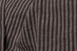 Linen-Wool washed - Brown Stripes
