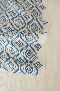 Indian Blockprint - Labyrinth Indigo
