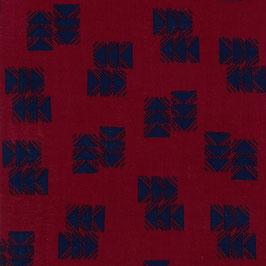 Double Gauze - Darts Red-Blue (Ellen Baker)