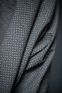 Cotton Seersucker - Tottorri Cross Black (Merchant & Mills)