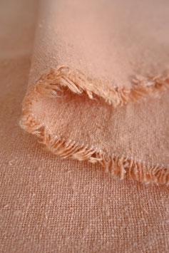 Raw Silk Noil - Peach
