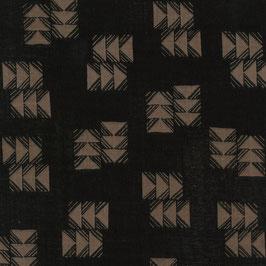 Double Gauze - Darts Black-Beige (Ellen Baker)