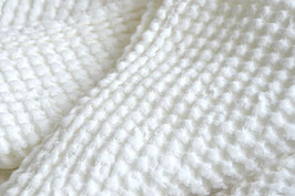 Waffle Linen washed - Snow White