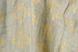 Linen Jacquard washed - Yellow Ornaments